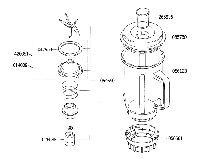 Bosch Food Processor Assembly